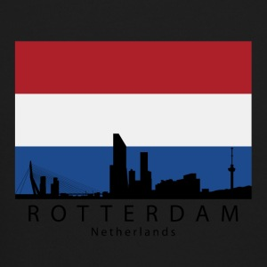 Rotterdam Netherlands Skyline Dutch Flag - Crewneck Sweatshirt