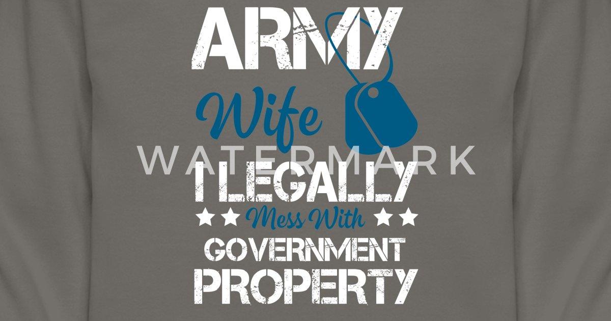 Unisex Crewneck SweatshirtCool Costume For Army Wife Gift Ideas