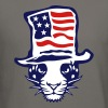 panther american flag hat 1 - Crewneck Sweatshirt