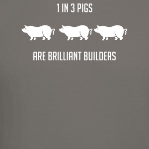 One in Three Pigs are Brilliant Builders - Crewneck Sweatshirt