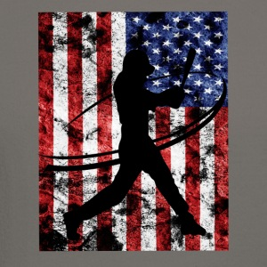 Baseball Pitcher American Flag Tee Shirt - Crewneck Sweatshirt