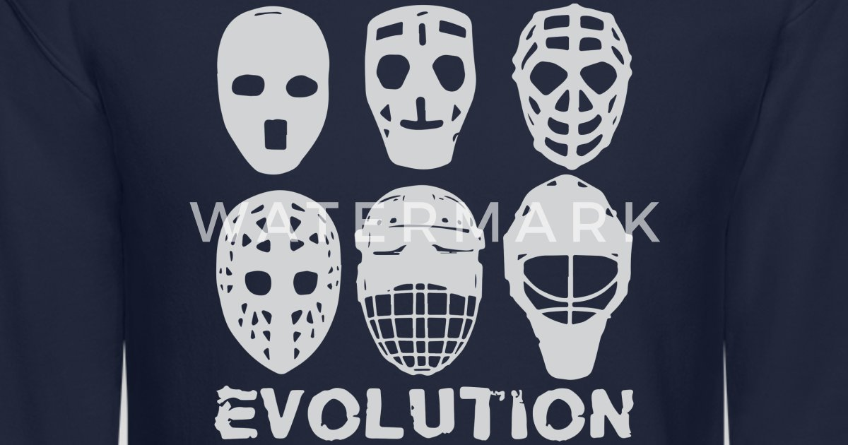 Hockey Goalie Mask Evolution Unisex Crewneck Sweatshirt Spreadshirt