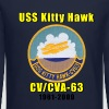 USS Kitty Hawk Tribute Design - Crewneck Sweatshirt