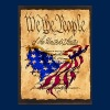 We The People American Eagle Flage - American Flag Flag overlaying the Preamble to the Constitutiion - Crewneck Sweatshirt