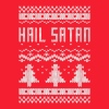 Ugly Hail Satan Christmas T-Shirt - Crewneck Sweatshirt