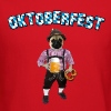 Oktoberfest Pug with beer and pretzel - Crewneck Sweatshirt