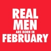 Real men are born in February - Crewneck Sweatshirt