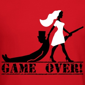 game over bride and groom