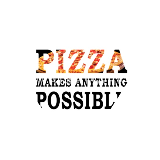 Pizza Lover Quotes - pizza makes anything possible Bandana - white