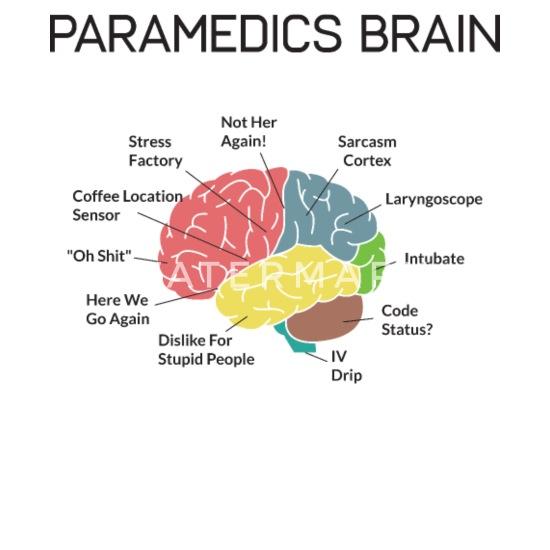 Paramedics Brain Funny EMS EMT Paramedic Gifts Bandana - white