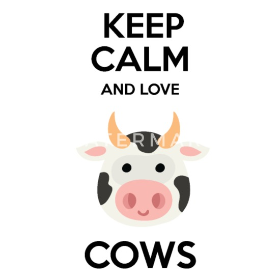 Keep Calm and Love Cow Quotes Bandana - white