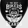 The best bikers have beards - skull motorcycle - Bandana