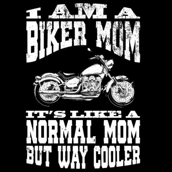 I Am A Biker Mom print Motorcyle Riding Gift For Bandana - black