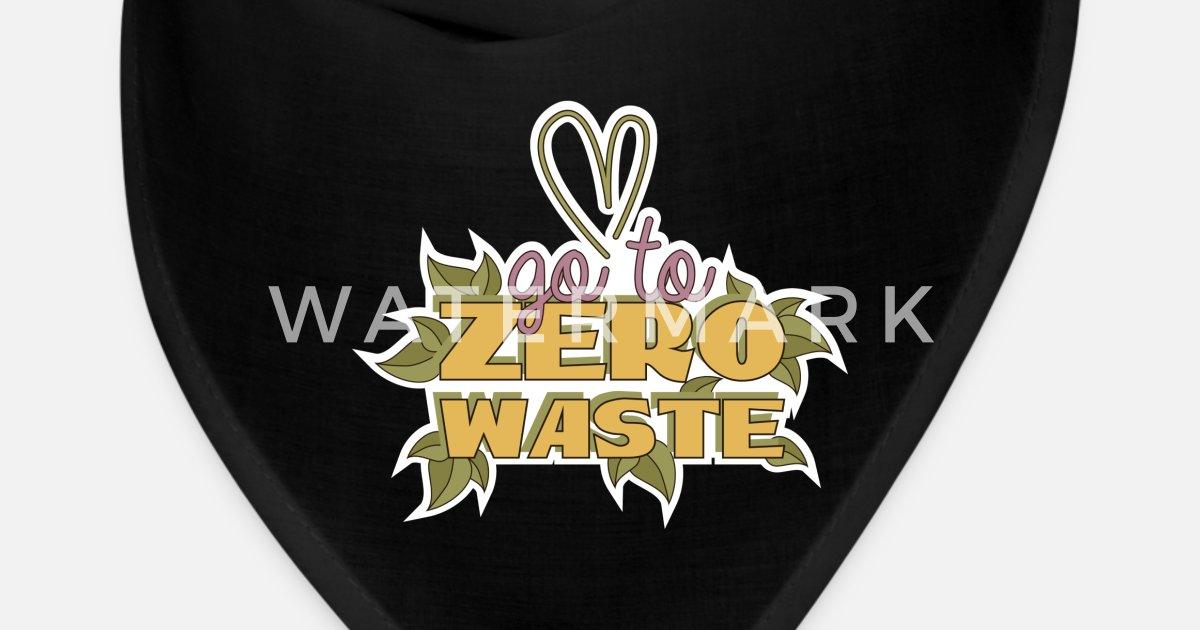 Zero Waste T-Shirt Earth Day Recycle Environment Bandana | Spreadshirt