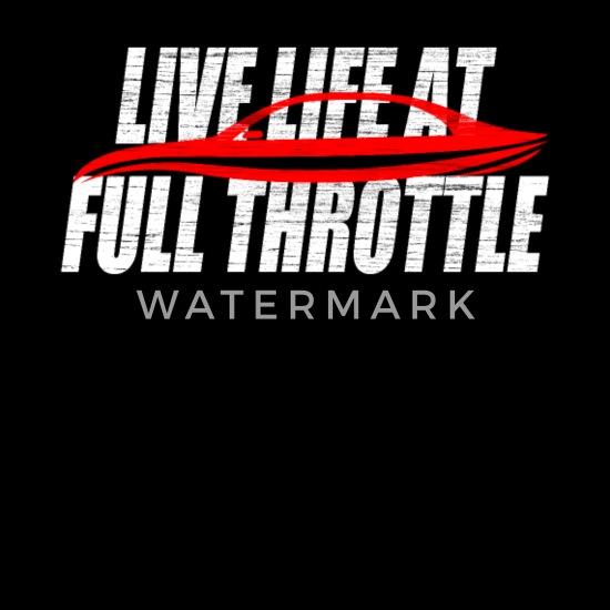 Live Life At Full Throttle Racing Speed Motorsport Bandana - black