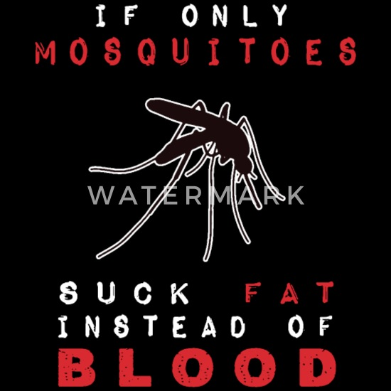 If Only Mosquitoes Suck Fat Instead Of Blood Bandana - black