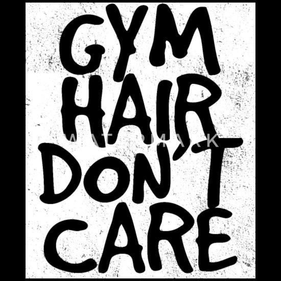 Gym Funny Design - Gym Hair Don't Care Bandana - black