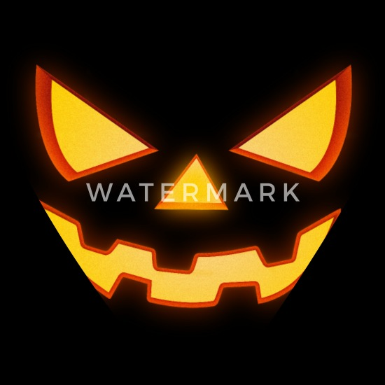 Scary Halloween Horror Pumpkin Face Bandana Spreadshirt