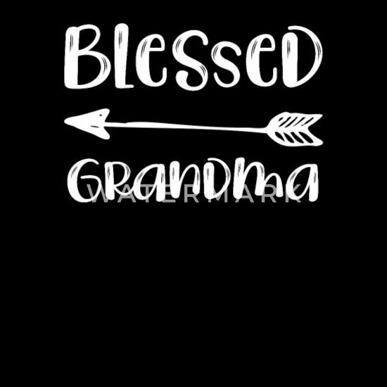 Grandparents Day Blessed Grandma Quote Love Bandana - black