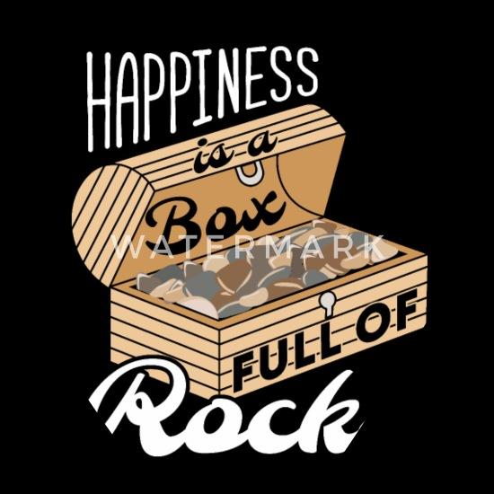 Geology Box of Rocks Geologist Science Humor Bandana - black