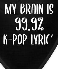 Kpop K,pop Korea Pop Music Fan Lyrics Gift Bandana , black