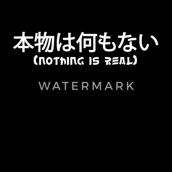 Nothing Is Real Japanese Kanji Bandana Spreadshirt