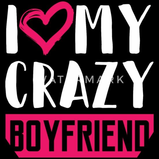 Boyfriend Funny Quotes Crazy Boyfriend Heart Gift Bandana Black
