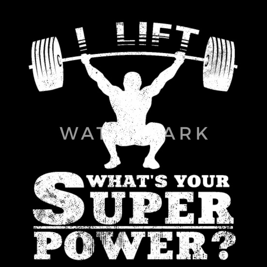 I Lift What\'s Your Superpower Weightlifting Quotes Bandana - black