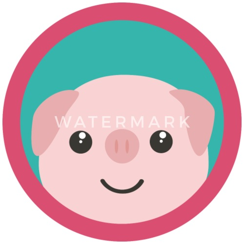 cute pink pig with purple circle gift by kelzo spreadshirt