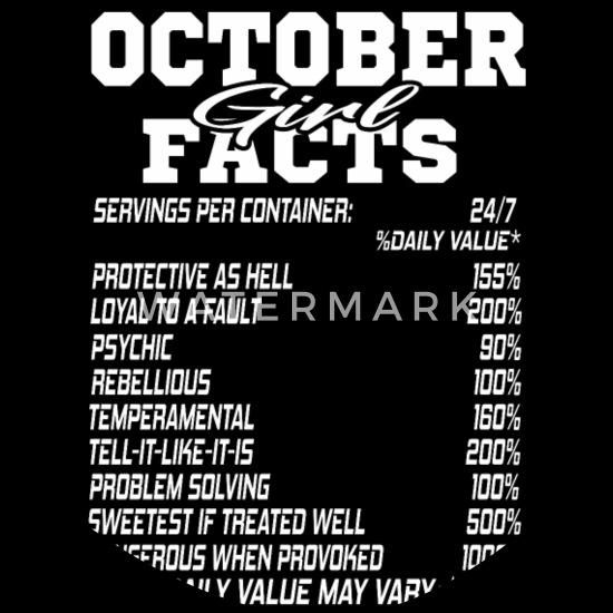 OCTOBER born girl funny birthmonth fact quotes Dog Bandana - black
