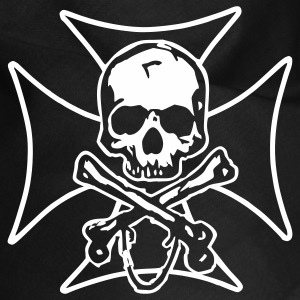 biker cross  skull and crossbones