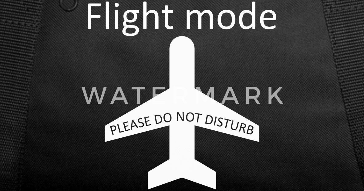 Flight mode - please do not disturb Duffle Bag  cec7e99399e50