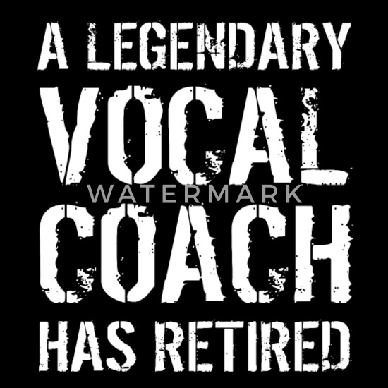 Retired Vocal Coach Retirement Voice Teacher Gifts Duffel Bag - black
