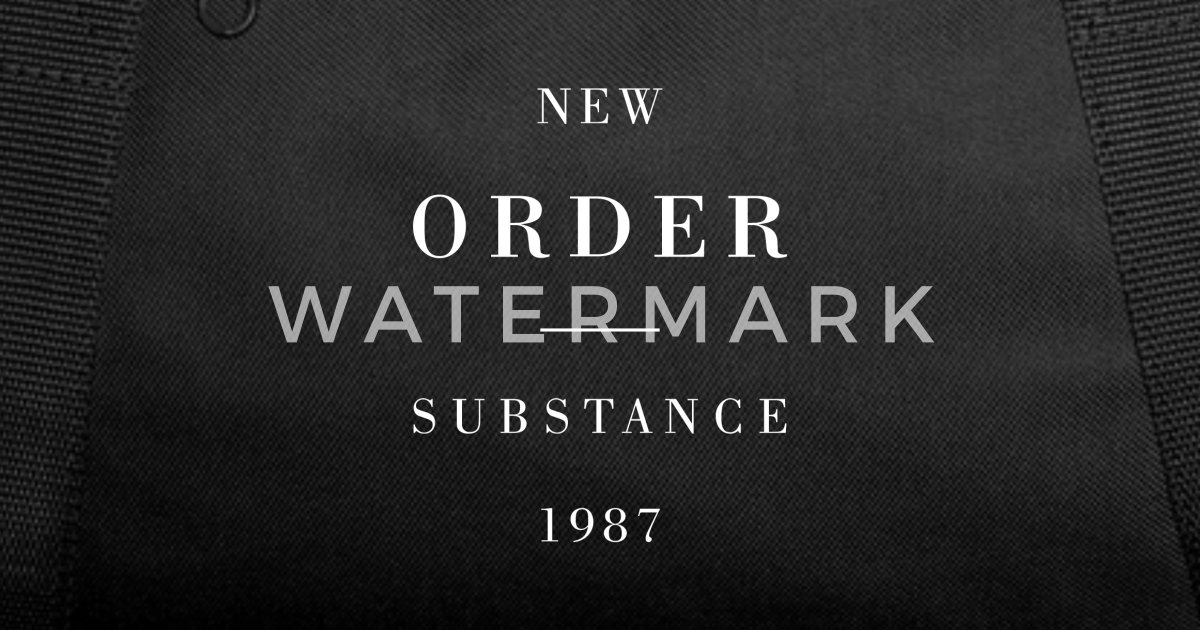 New Order Substance Duffle Bag | Spreadshirt