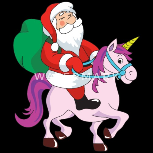 Funny Santa Claus Xmas Merry Christmas Unicorn by For More Designs ...