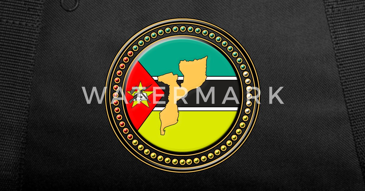 Mozambique flag with map - Beautiful gift idea wit Duffle Bag | Spreadshirt