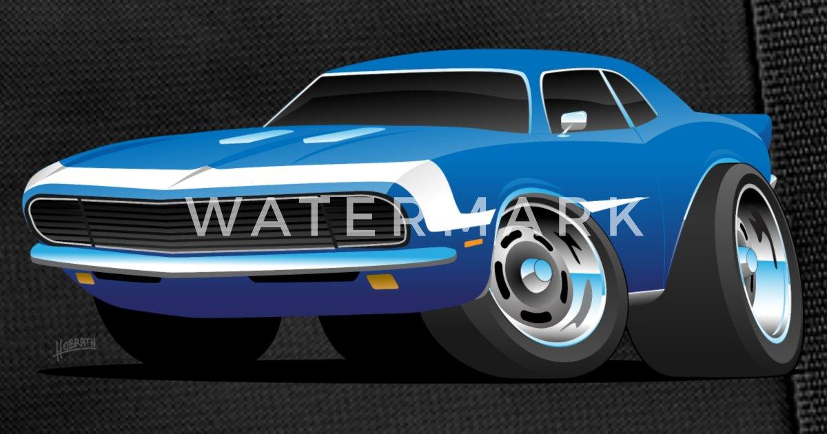 Classic Sixties Muscle Car Hot Rod Cartoon Duffle Bag Spreadshirt