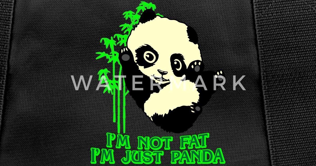 d0d135974c36 panda bear thick comic present slim fun fat joke Duffle Bag   Spreadshirt