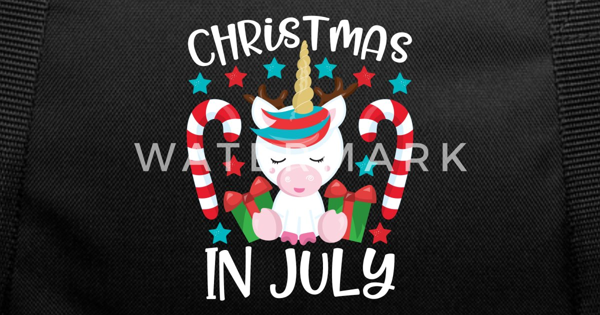 Christmas In July Humor.Christmas In July Funny Unicorn Humor Gift Duffle Bag Spreadshirt