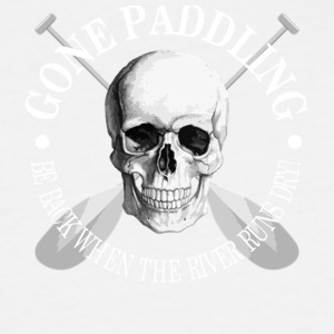Gone Paddling Skull - Men's Tall T-Shirt