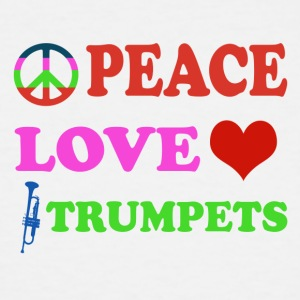 Peace love Trumpets - Men's Tall T-Shirt