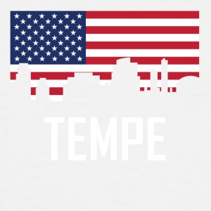 Tempe Arizona Skyline American Flag - Men's Tall T-Shirt