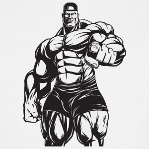 Strongman bodybuilder muscles shape vector art fun - Men's Tall T-Shirt