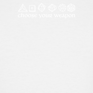 Choose your Weapon - Men's Tall T-Shirt