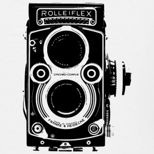 Rolleiflex Twin Lens Reflex Oldschool Film - Men's Tall T-Shirt