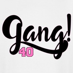 Gang 40 - Black/Pink - Men's Tall T-Shirt