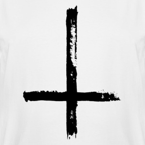 Large Black Satanic Cross - Men's Tall T-Shirt