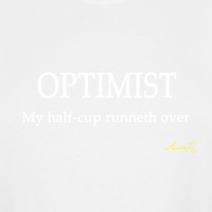 0114w OPTIMIST: My half-cup runneth over - Men's Tall T-Shirt