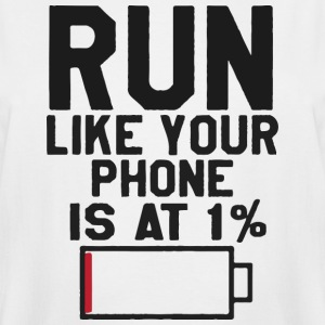 Run like your your phone is at 1 - Men's Tall T-Shirt