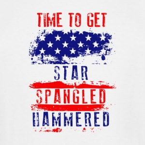Time To Get Star Spangled Hammered Flug - Men's Tall T-Shirt